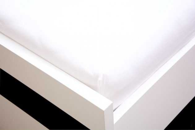 NÁBYTEK Prostěradlo Jersey, 90x200 (bílé)