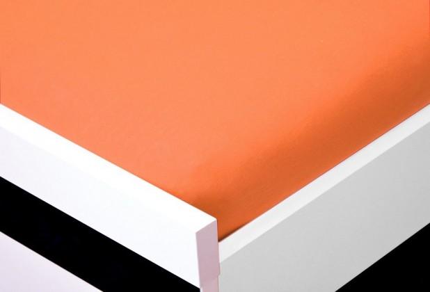 NÁBYTEK Prostěradlo Jersey, 90x200 (oranžové)