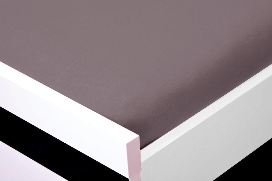 NÁBYTEK Prostěradlo Jersey, 90x200 (šedé)