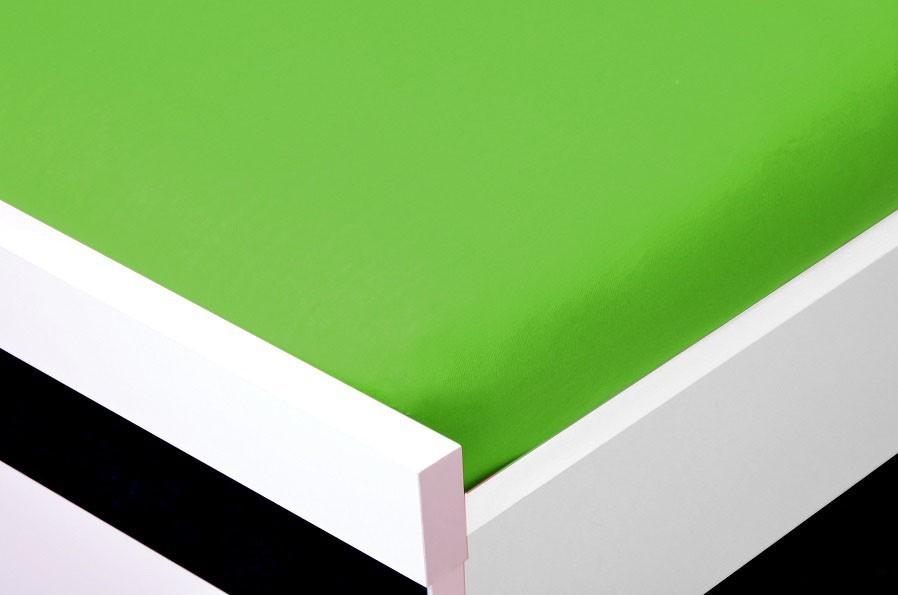 NÁBYTEK Prostěradlo Jersey, 90x200 (zelené)