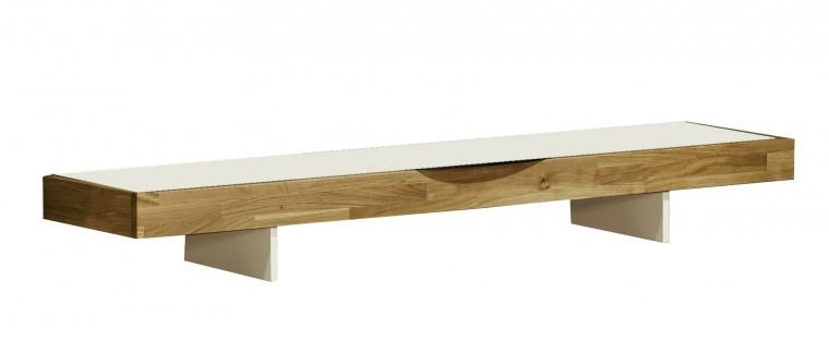 Nádstavec na TV stolek Feel - TV nádstavba 4071413 (bílá/dub)