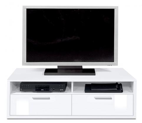 Nádstavec na TV stolek Game plus - TV prvek, 123 cm (bílá/bílá lak HG)