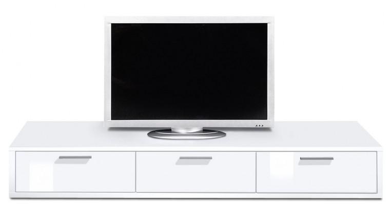 Nádstavec na TV stolek Game plus - TV prvek, 180 cm (bílá/bílá lak HG)