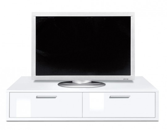 Nádstavec na TV stolek Game - TV prvek, 120 cm (bílá/bílá)
