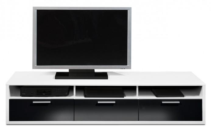 Nádstavec na TV stolek Game - TV prvek, 181 cm (bílá/černý lak HG)