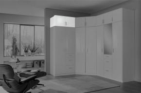 Nástavec na skříň Clack (2x dveře, bílá, bílá) - PŘEBALENO