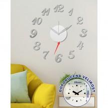 Nástěnné hodiny - H15, 50 cm, stříbrná