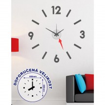 Nástěnné hodiny - H16, 50 cm, černá