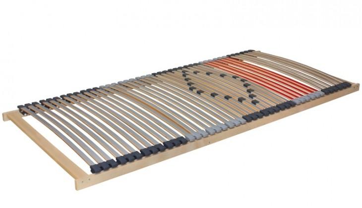 Nepolohovací Merkur 80x200 (stříbrná/šedá/červená/přírodní buk)