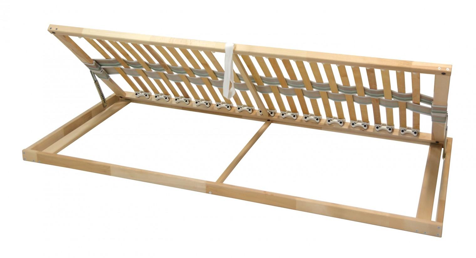 Nepolohovací Rošt Double klasik - 90x200 cm, výklopný do boku