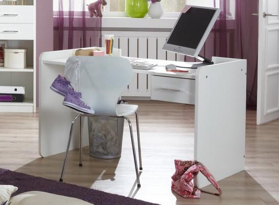 Nightlight - Dětský pracovní stůl (bílá, křišťálové kamínky)