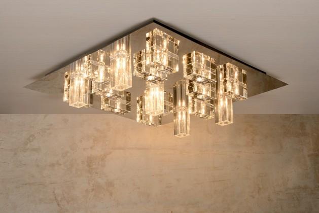 Nikita - stropní osvětlení, 17x10W, G4 (stříbrná)