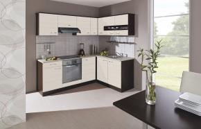 Nina - Kuchyně, 220x160 cm (woodline creme, dub tmavý, písek)