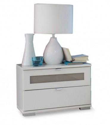 Noční stolek Advantage - Noční stolek (alpská bílá/šedá)