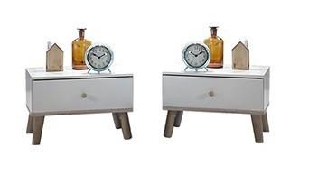 Noční stolek Bergen - 2x noční stolek (dub/alpská bílá)