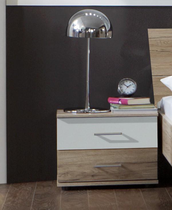 Noční stolek Dora 768698(san- remo dub, alpská bílá)