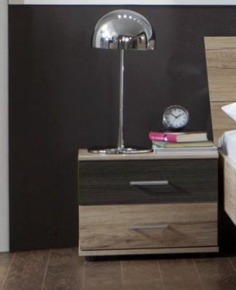 Noční stolek Dora 772698(san- remo dub, zrcadlo, wenge brasil)