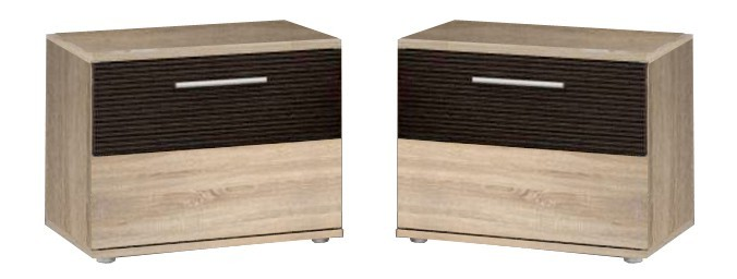 Noční stolek Empire-EMRK021ST(Q20-dub sonoma(D30)/dub čokoládový(MDF TF/D23))