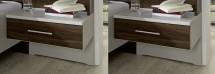 Noční stolek Imola - 1x výsuv, visutý, 2 ks - PŘEBALENO