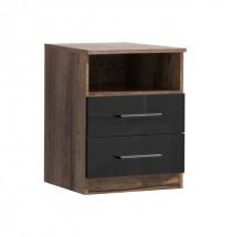 Noční stolek Jawa (dub mud, černá)