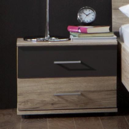 Noční stolek Madrid - Noční stolek (dub san remo/lava černá)