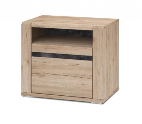 Noční stolek Minneota - Noční stolek 60,1/52,4/40,2 (dub san remo sand)