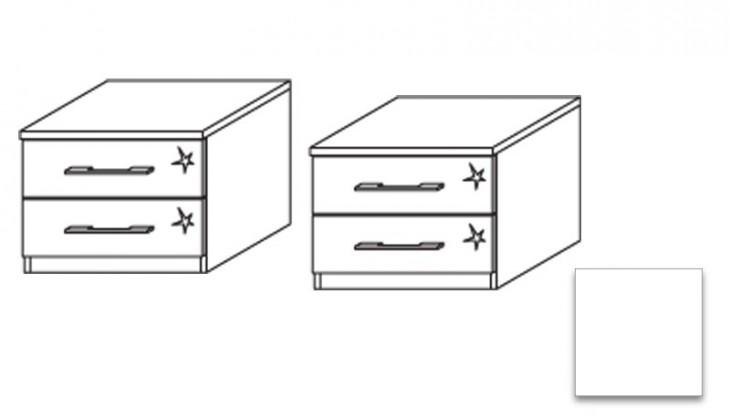 Noční stolek Modena B - Noční stolek, 2x zásuvka (2 ks)
