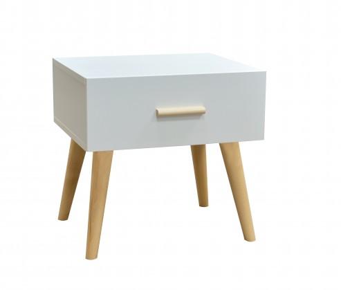 Noční stolek noční stolek creative (bílá/buk)