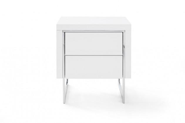 Noční stolek Noční stolek Garet (bílá lesk)