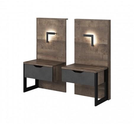 Noční stolek Noční stolky Laura (dub grande pískový/matera)