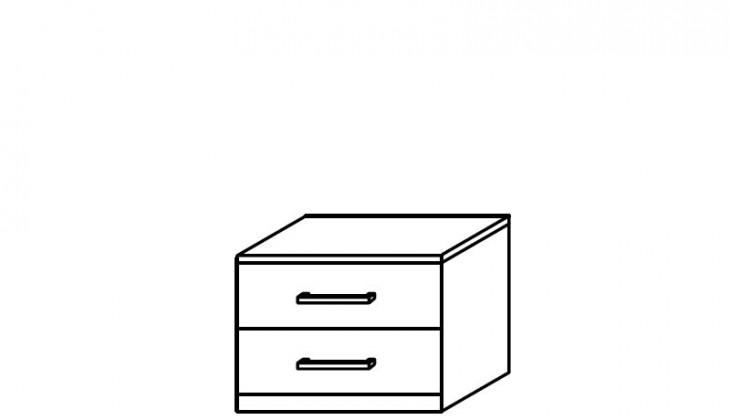Noční stolek Quadra - noční stolek, 2x zásuvka