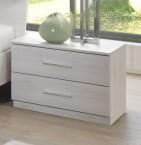 Noční stolek Susan (bílý dub, 2x zásuvka)