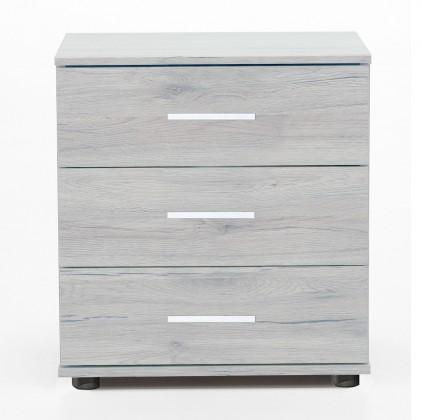 Noční stolek Sylt - Noční stolek 2 (dub bílý, šedá)
