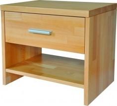 Noční stolek TNS 2 masiv buk, barva př - II. jakost