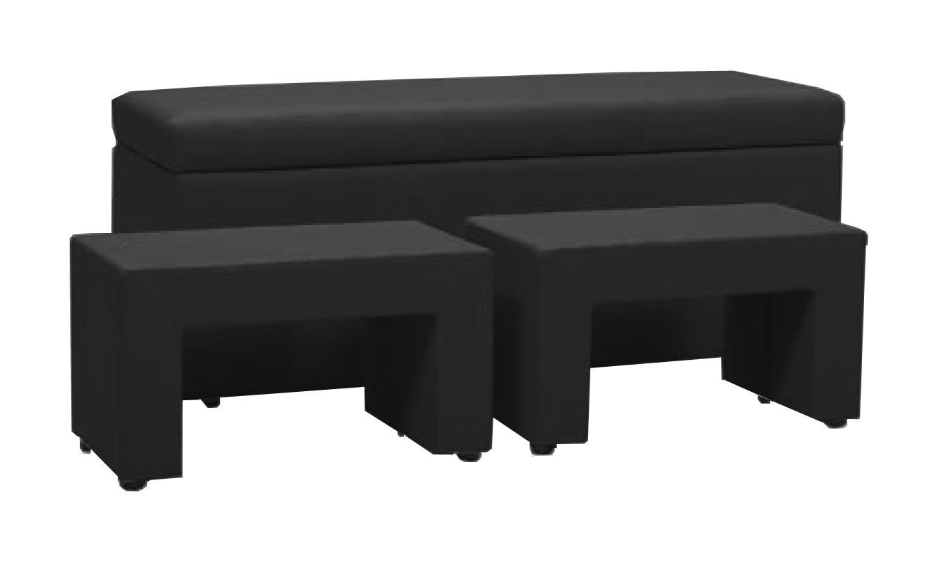 Noční stolek TRIPLE + NIGHT STANDS (black, sk. I)