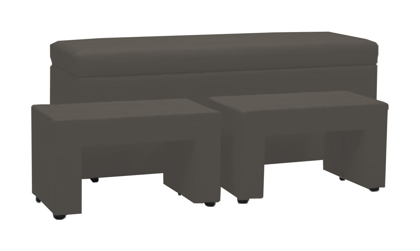 Noční stolek TRIPLE + NIGHT STANDS (dark grey, sk. VII)
