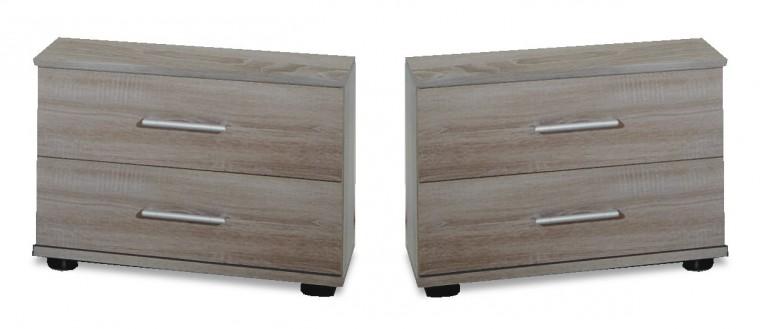 Noční stolek Vicenza - Noční stolek 2x (dub montana)