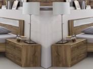 Nočný stolek Pamela - 2ks (tmavý dub)