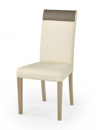 Norbert - Jídelní židle (krémová, dub sonoma)