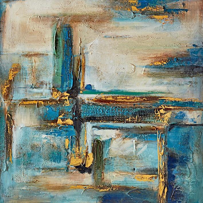 Obraz abstraktní W556, 60x60 cm