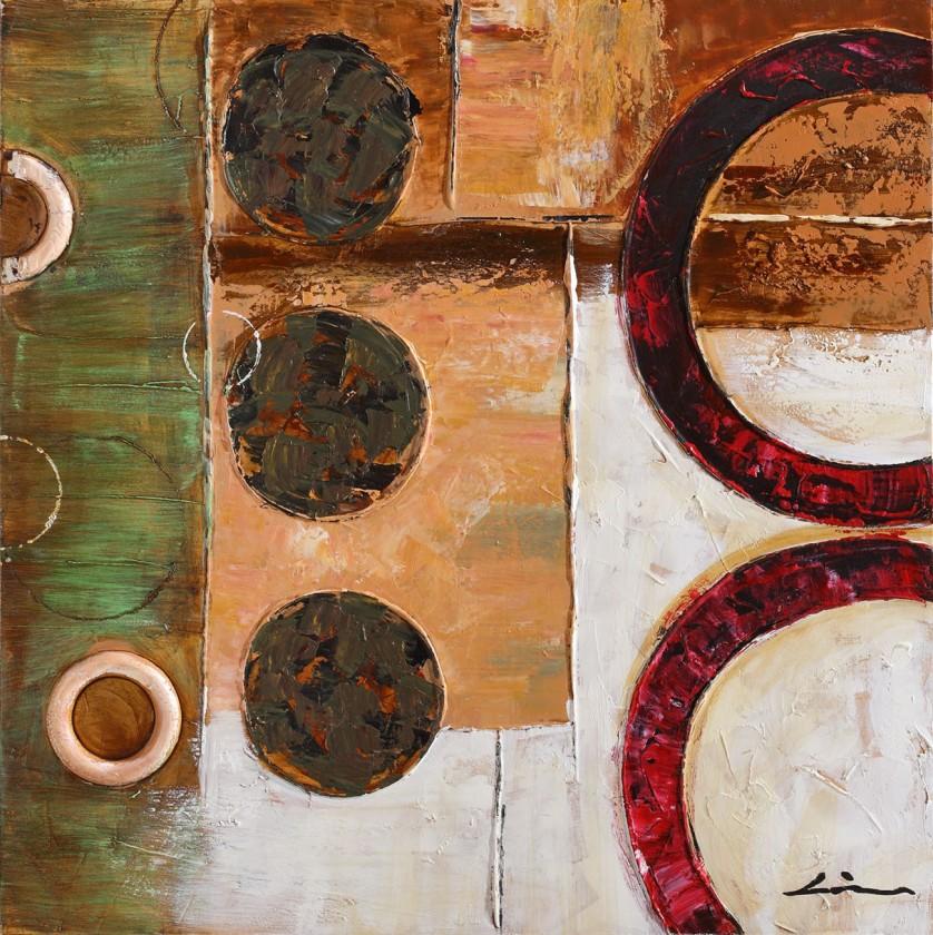 Obraz abstraktní Z208, 80x80 cm