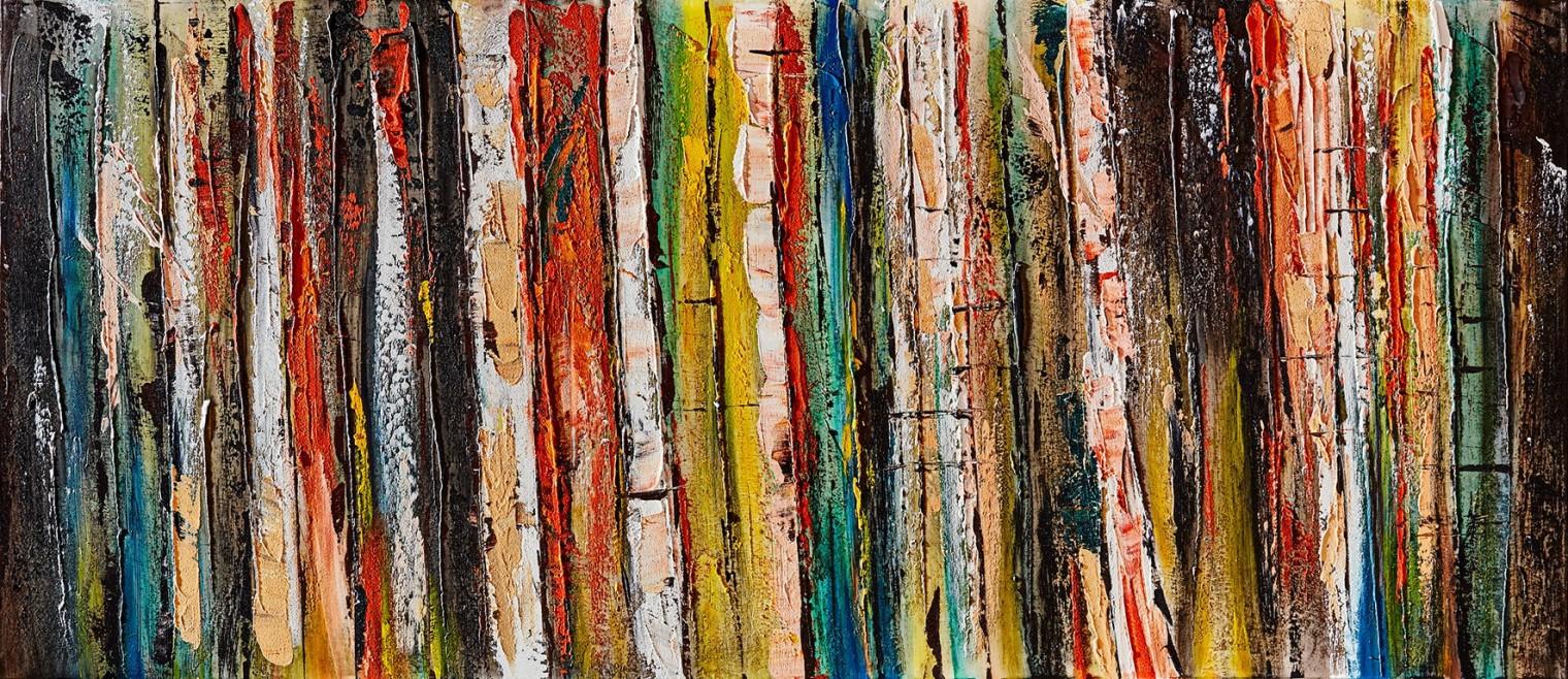 Obraz abstraktní Z368, 65x150 cm