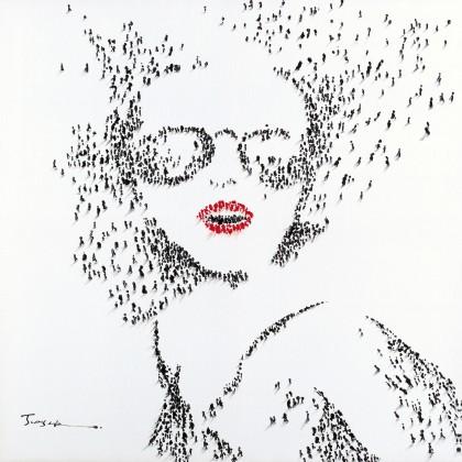 Obraz B003, 80x80 cm (print a paint)