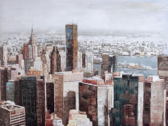 Obraz B012, 90x120 cm (print a paint)