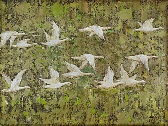 Obraz B025, 90x120 cm (print a paint)