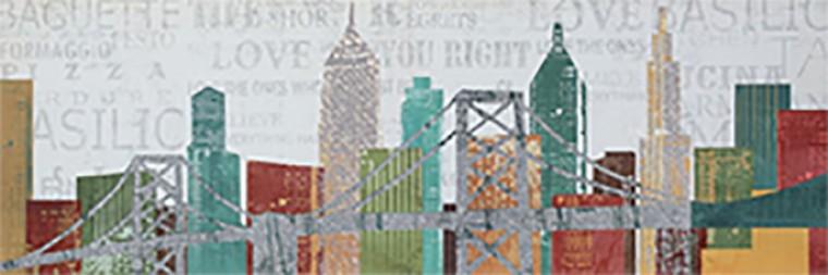Obraz coloured NY 40x120 cm