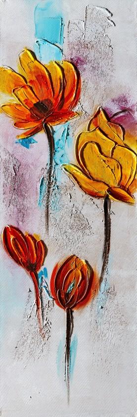 Obraz Flowers Z344, 90x30 cm (květy)
