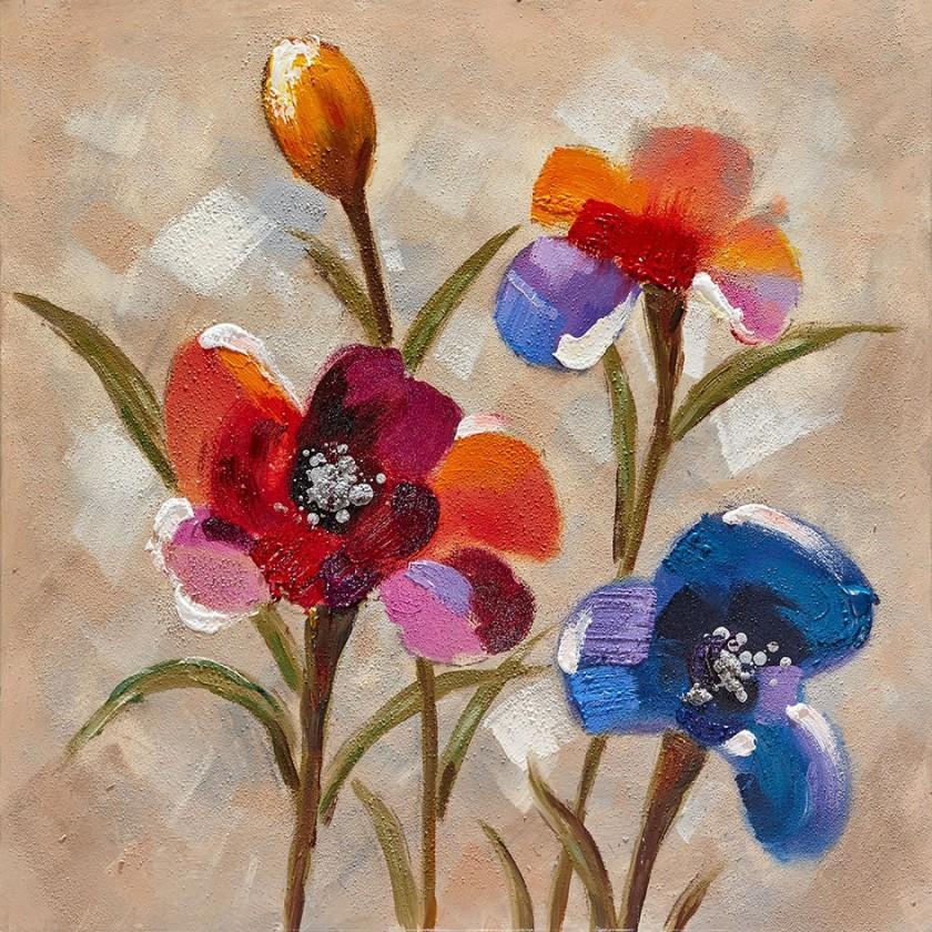 Obraz Flowers Z355, 80x80 cm (květy)