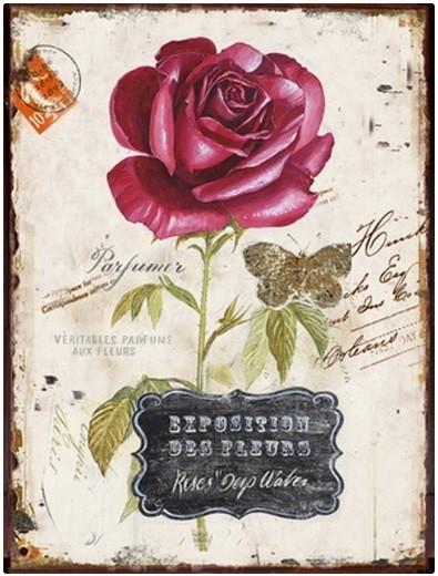 Obraz na zeď - plátno (béžová s růží)