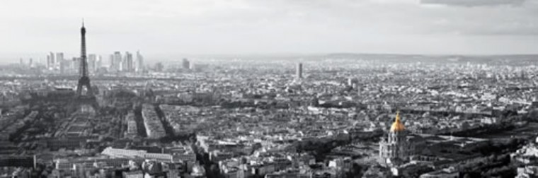 Obraz Paris View 50x150 cm